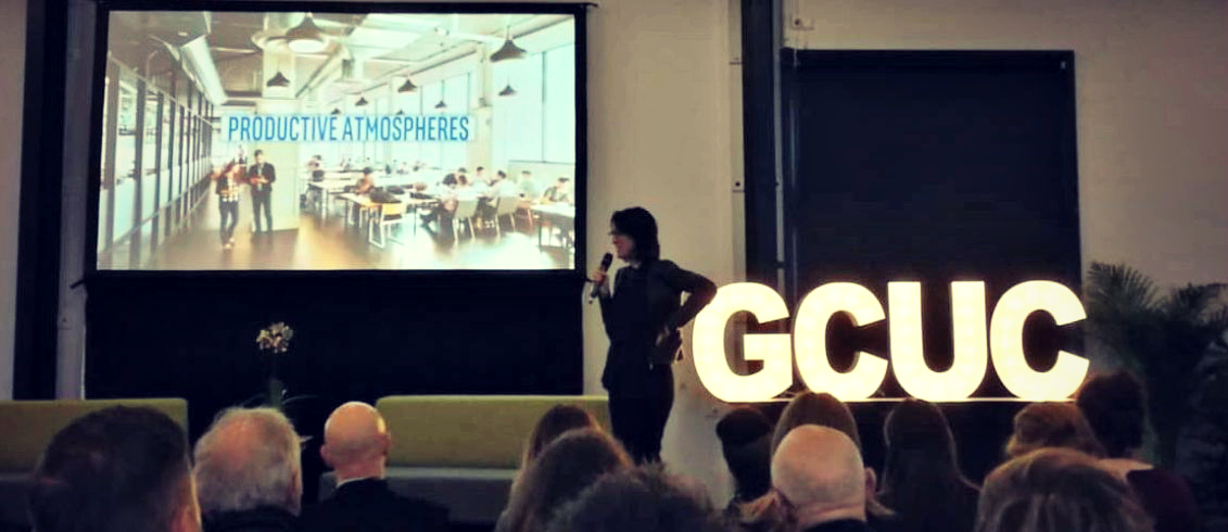 Melissa Gregg from Intel talking about the future of work at GCUCAU. Source: Claire Harris