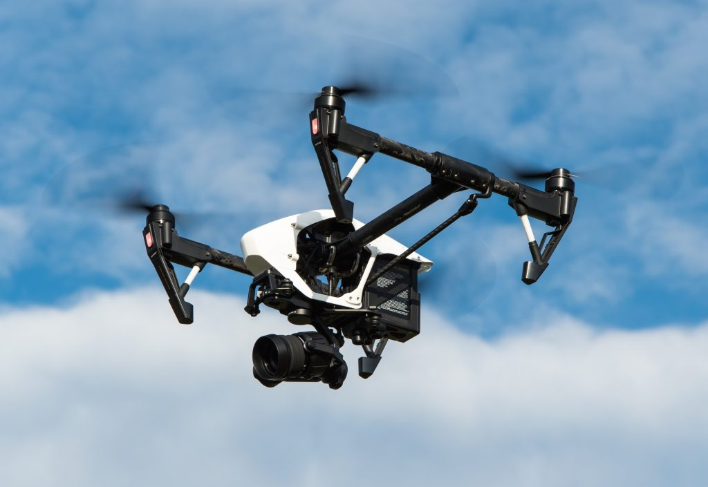 Drone flying overhead (Source: Pixabay CC)