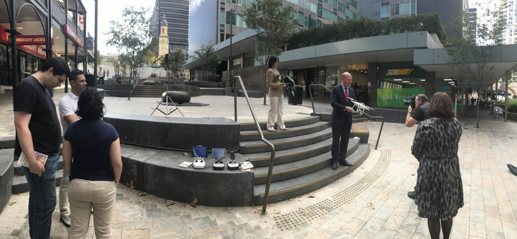 20180427 At the Drone Report Launch in North Sydney